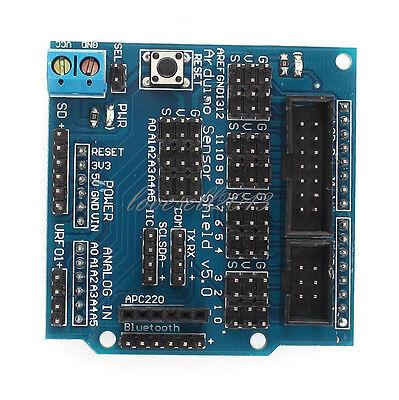 New Sensor Shield Digital Analog Module Servo Motor For Arduino Uno R3 Mega V5