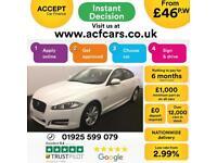2014 WHITE JAGUAR XF 2.2 D 163 R SPORT DIESEL 4DR SALOON CAR FINANCE FR £46 PW