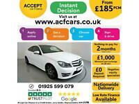 2013 WHITE MERCEDES C250 2.1 CDI AMG SPORT PLUS 2DR COUPE CAR FINANCE FR £185PCM