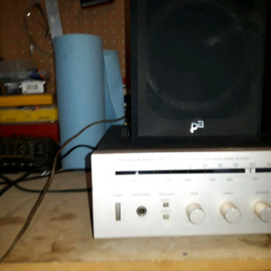 Receiver and Bookshelf speakers