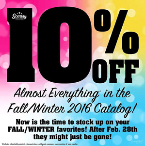 SCENTSY 'S MONTH LONG 10% OFF SALE