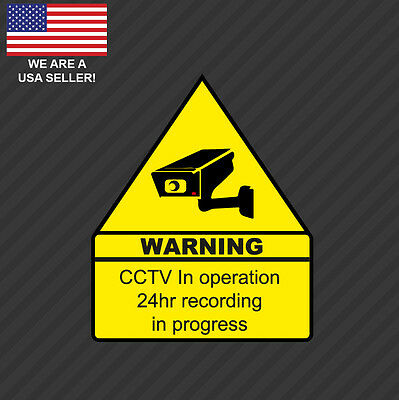 Home CCTV Surveillance Security Camera Video Sticker Warning Decal Defense -