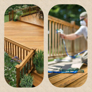 SPRAY ON WOOD AND CONCRETE SEALANT OR STAIN.