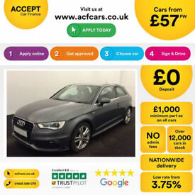 Audi A3 S Line FROM £57 PER WEEK!