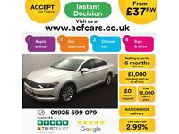 2015 WHITE VW PASSAT 2.0 TDI 150 SE BUSINESS DIESEL SALOON CAR FINANCE FR £37 PW