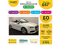 Convertible AUDI A3 CABRIOLET 1.6 1.8 2.0 TDI Diesel S LINE FROM £57 PER WEEK!
