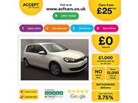 Volkswagen Golf FROM £25 PER WEEK!