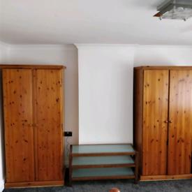 Pine Wardrobes x 2