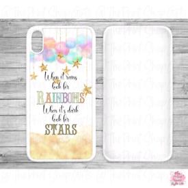 Rainbow and stars phone case