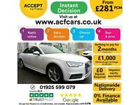 2018 WHITE AUDI A4 1.4 TFSI 150 S LINE AUTO SALOON CAR FINANCE FR £281 PCM