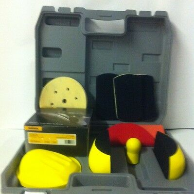 SANDING BLOCK KIT FMT HOOK & LOOP comes with 25 assorted mirka discs