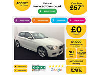 White BMW 116i M Sport 5 door Auto Leather FROM £57 PER WEEK!