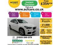 2018 WHITE BMW X1 2.0 XDRIVE20D M SPORT AUTO ESTATE CAR FINANCE FR £354 PCM