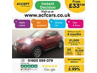 2015 RED NISSAN JUKE 1.5 DCI TEKNA DIESEL HATCHBACK CAR FINANCE FR £33 PW