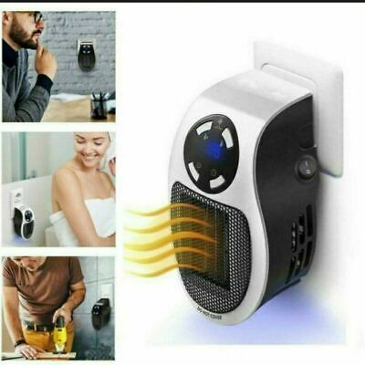 Mini Calefactor De Llama Estufa Eléctrico de Aire 500W Radiador Casa Baño