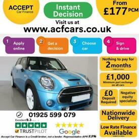 image for 2014 BLUE MINI COOPER S 2.0 192 PETROL MANUAL 5DR HATCH CAR FINANCE FR £177 PCM