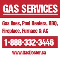 Gas lines, pool heaters, BBQ, appliance hookup
