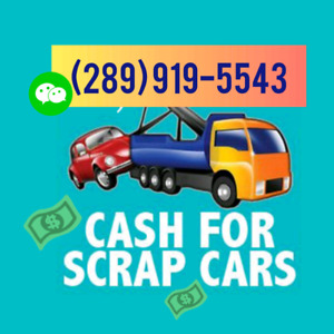 ✔️Scrap Car Removal TEXT 289.919.5543 Sameday Pickup