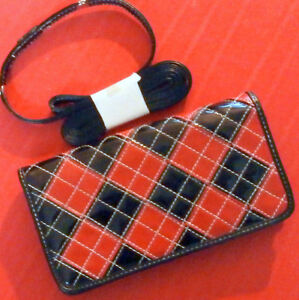 BRAND NEW! Womens Black-Red Wallet