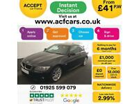 2013 BLACK BMW 320D 2.0 M SPORT DIESEL AUTO 2DR COUPE CAR FINANCE FR 41 PW