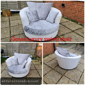 Genoa luxury swivel chair 🤩new