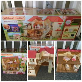 HUGE Sylvanian families bundle (2 houses, lots of furniture, figures)