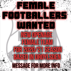 Female open age GOALKEEPER required