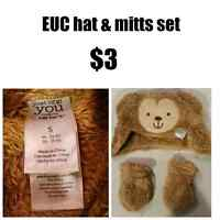 EEEUC HAT MITTS SET