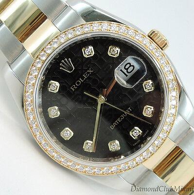 Rolex Watch Date-Just 36mm Original Diamond Bezel & Dial Ref#116243