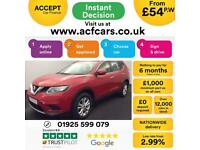 2016 RED NISSAN X-TRAIL 1.6 DCI 130 VISIA 5 SEAT DIESEL CAR FINANCE FR £54 PW