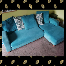 L sofa & puffee Dfs