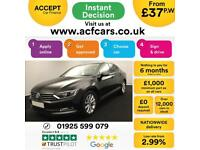 2015 BLACK VW PASSAT 2.0 TDI 150 SE BUSINESS DIESEL SALOON CAR FINANCE FR £37 PW