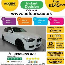 image for 2013 WHITE BMW 120D 2.0 M SPORT DIESEL MANUAL 5DR HATCH CAR FINANCE FR £145 PCM