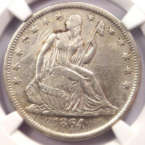 1864-S Seated Liberty Half Dollar 50C - NGC XF Details - Rare Civil War Coin!