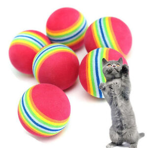 For Sell 6X Small Play Ball Colorful Dog Pet Cat Kitten Soft Foa