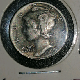 Lovely 1916 D mercury dime KEY DATE highly sort after consider trades
