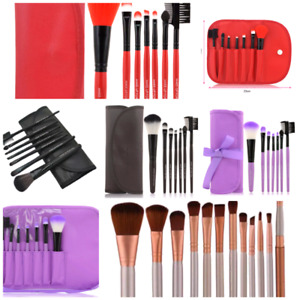 Various color makeup brushes