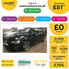 Audi A4 Black Edition FROM £51 PER WEEK!