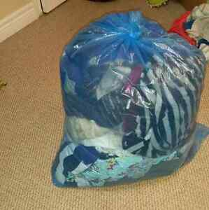 Three large bags of clothes