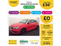 RED AUDI A1 1.6 2.0 TDI SPORT S LINE BLACK EDITION NAV FROM £36 PER WEEK!
