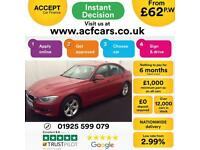 2015 RED BMW 330D 3.0 SE DIESEL AUTO SALOON CAR FINANCE FR 62 PW