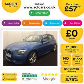 BMW 120 M Sport FROM £57 PER WEEK!