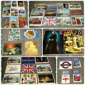NEW 36 Postcards & 4 patches from different countries & cities