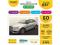 SILVER AUDI A1 1.6 2.0 TDI SPORT S LINE BLACK EDITION 3 DOOR FROM £51 PER WEEK!