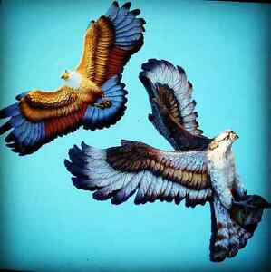Bossons- Osprey and Eagle