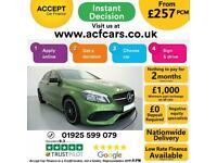 2017 GREEN MERCEDES A180D 1.5 AMG LINE DIESEL MANUAL CAR FINANCE FR £257 PCM