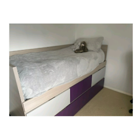 Cabin bed with 3 drawer storage and trundle bed