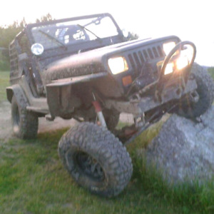 Jeep yj echange contre motocross ou cash