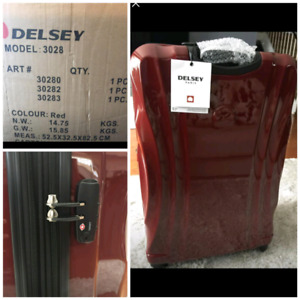 Delsey, luggage, suitcase, delivery