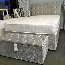 CLEARANCE DIVAN bed set with luxury mattress and FREE DELIVERY